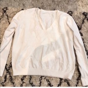 Sweaters - Cream cut out sweater